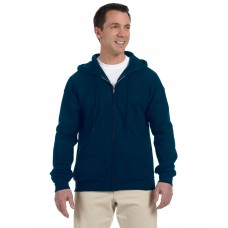 G126 Gildan Adult DryBlend® Adult 9 oz., 50/50 Full-Zip Hood - Navy Blue