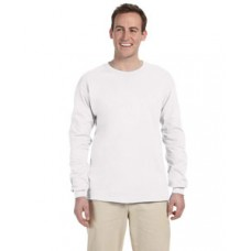G240 Prime Plus Gildan Adult Ultra Cotton Long Sleeve T-Shirt - White