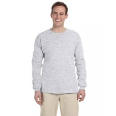 G240 Prime Plus Gildan Adult Ultra Cotton Long Sleeve T-Shirt - Ash