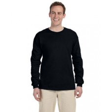 G240 Prime Plus Gildan Adult Ultra Cotton Long Sleeve T-Shirt - Black