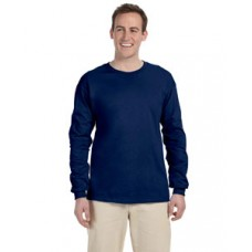 G240 Prime Plus Gildan Adult Ultra Cotton Long Sleeve T-Shirt - Navy Blue